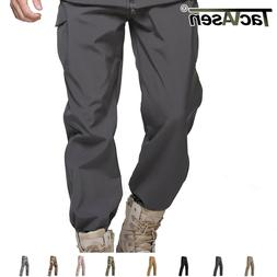 TACVASEN Mens Tactical Soft Shell Fleece Pants Waterproof Ar
