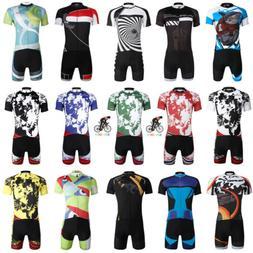 Mens Team Bike Sports Clothing Short Sleeve Tops Cycling Jer