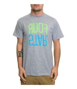Fourstar Clothing Mens The Fourstar Two Tone Arch Graphic T-