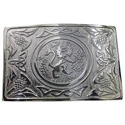 mens traditional rampant lion kilt belt buckle