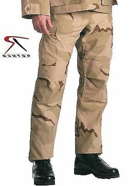 Rothco Mens Tri-Color Desert Camouflage BDU SWAT Cloth Cargo
