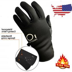 Mens Waterproof Winter Gloves Thermal Insulation Cycling Ski