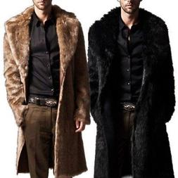 mens winter faux fur warm coat parka