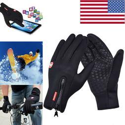 Mens Winter Sports Warm Gloves Windproof Waterproof Thermal
