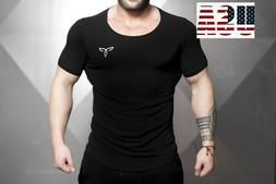 Mens Workout Shirt Men Muscle Tee Fitness Clothing Bodybuild