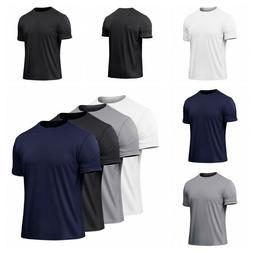 mens workout t shirt dry fit moisture