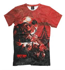 METRO 2033 red color tee - all over printed t-shirt gamer st