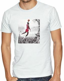 Michael Jeffrey Jordan Chicago Bulls Basketball T-Shirts M-3