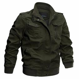 Military Jacket Winter Cotton Coat Casual Outerwear Turn-dow