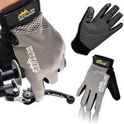 Mountain Bike Touchscreen Cycling Gloves - Full Finger Mtn B