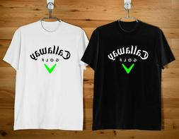 NEW CALLAWAY GOLF LOGO Men's Clothing Black & White T Shirt