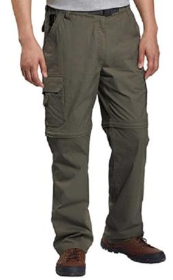 NEW BC Clothing Men's Convertible Stretch Cargo Hiking Pants