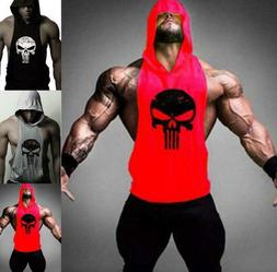 New Men's Gym Clothing Stringer Hoodie Bodybuilding Tank Top