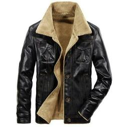 New Men's Leather Jacket PU Coats Mens Brand Clothing Therma