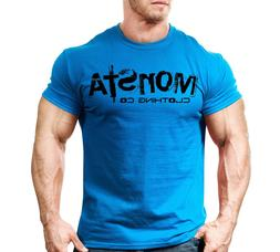 New Men's Monsta Clothing Fitness Gym T-shirt - Sig 31 - Bla
