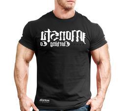 New Men's Monsta Clothing Fitness Gym T-shirt - War Font