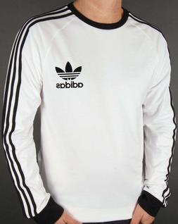 New Mens Adidas Originals Mens White Long Sleeve Trefoil t S