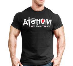 New Mens Monsta Clothing Fitness Gym T-shirt: Signature 31 W
