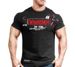 New Mens Monsta Clothing Fitness Gym Workout T-shirt - Punis