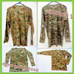 New Military Army Long Sleeve T-Shirt Men Women Bdu Tactical