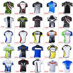 New Road Bike Men's Cycling Short Sleeve Jerseys Tops T-shir