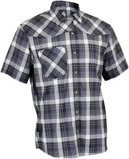 Club Ride New West Men's Short Sleeve Shirt: Black LG