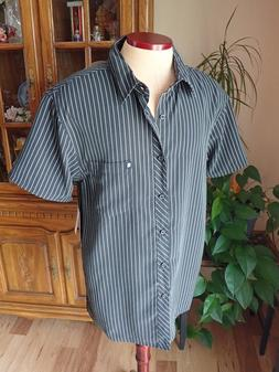 NWT Drill Clothing Co Men's Casual Shirt Black Short Sleeve