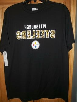 NWT Men's NFL Team Apparel Pittsburgh Steelers Football Blac