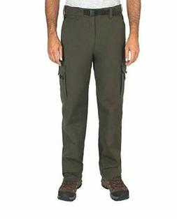 NWT BC Clothing Men's Stretch Lined Cargo Hiking Lined Pants