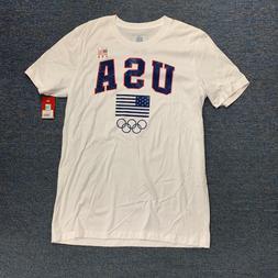 NWT Team USA Apparel Men's T-Shirt Olympics Crew Neck Tee T-