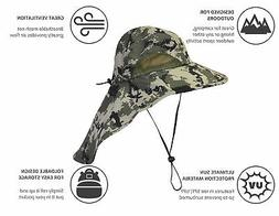 Outdoor Hiking Fishing Hat Summer Sun Protection Wide Brim B