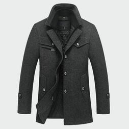 Winter Men Casual Slim Fit Jacket Warm Outerwear Jackets Coa