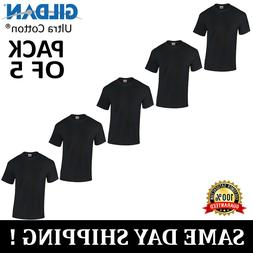 PACK OF 5 Gildan Plain Mens 100% Ultra Cotton T Shirt Blank