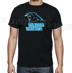 PANTHERS Black Mens T-Shirt New Carolina Football Tee Fan No