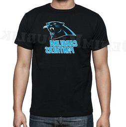 PANTHERS Black Mens T-Shirt New Carolina Football Tee Fan No