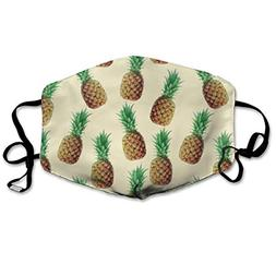 MINGYING Pineapple S Pattern Anti Dust Breathable Face Mouth