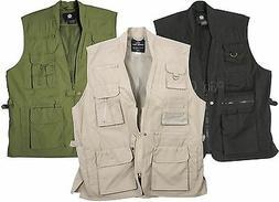 Plain Clothes Concealed Carry Tactical Cargo Vest - Black Kh