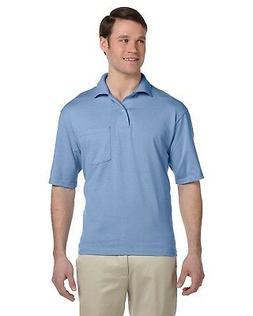 Jerzees Polo Shirt Men's Short Sleeve 5.6 oz 50/50 Jersey Po
