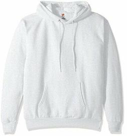 Hanes Men's Pullover EcoSmart Fleece Hooded Sweatshirt, ash,