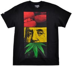 Trukfit Rasta T-Shirt Ben Franklin Weed Reggae Top Mens Lil