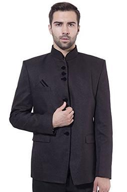 rayon cotton bandhgala festive black