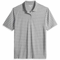 Amazon Essentials Men's Regular-Fit Quick-Dry Stripe Golf Po