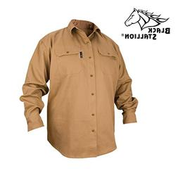 REVCO BLACK STALLION FR FLAME RESISTANT COTTON WORK SHIRT -