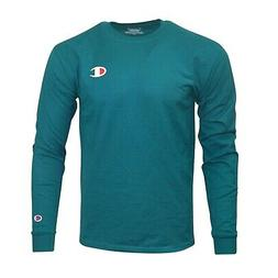 reverse weave men s jade long sleeve