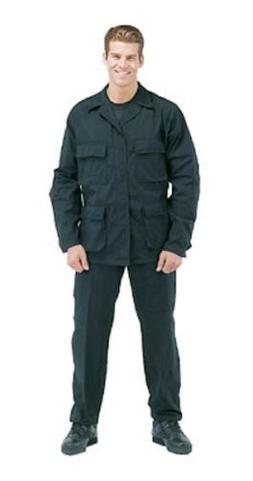 Rotcho Black Law Enforcement SWAT Cloth Rip Stop BDU's