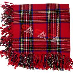 AAR Royal Stewart Tartan Scottish Highland Kilt Fly Plaid Ki