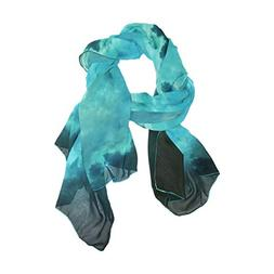 Scarf Outer Space Galaxy Planet Womens Shawl Wrap Thin Chiff