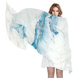 Scarf Watercolor Marble Ladies Thin Shawl Wrap Girls Chiffon