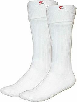 Men's  Scottish Irish Kilt Hose Socks White Size Large Sporr