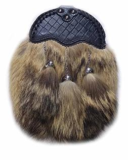 Scottish Kilt Coyote Fur Sporrans - Formal, Full Fur, Semi F